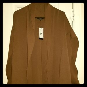 Lafayette 148 New York Shawl-Collar Open Vest
